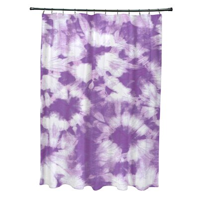 Pembrook Polyester Chillax Geometric Shower Curtain Color: Purple