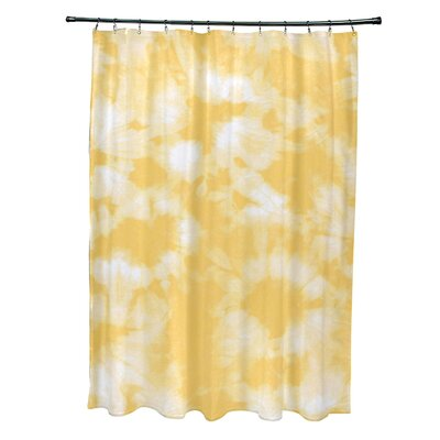 Pembrook Polyester Chillax Geometric Shower Curtain Color: Yellow