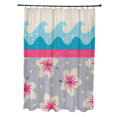 Pembrook Polyester Floral Shower Curtain Color: Pink