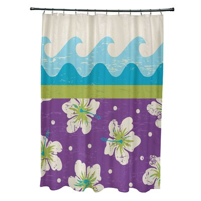 Pembrook Polyester Floral Shower Curtain Color: Light Green