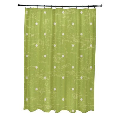Pembrook Polyester Dorothy Dot Geometric Shower Curtain Color: Light Green