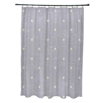 Pembrook Polyester Dorothy Dot Geometric Shower Curtain Color: Gray