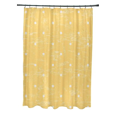 Pembrook Polyester Dorothy Dot Geometric Shower Curtain Color: Yellow