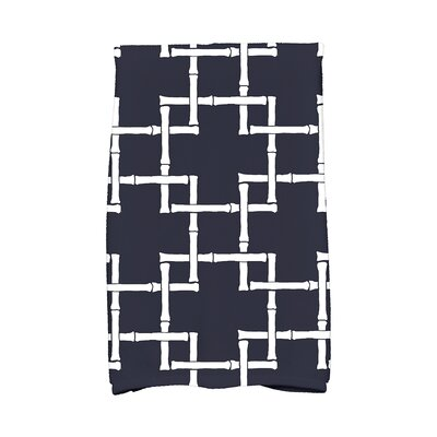 Woodhill Print 1 Print Towel Color: Navy Blue