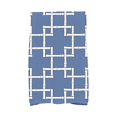 Bamboo 1 Print Towel Color: Blue