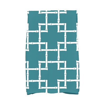 Woodhill Print 1 Print Towel Color: Teal