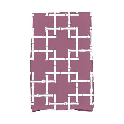 Bamboo 1 Print Towel Color: Purple