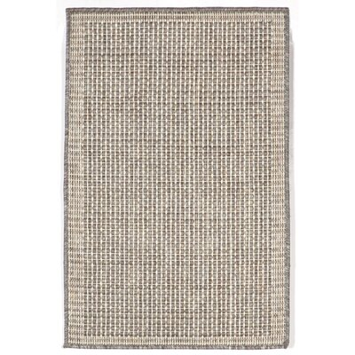 Sloane Texture Silver/Ivory Indoor/Outdoor Area Rug Rug Size: 111 x 211