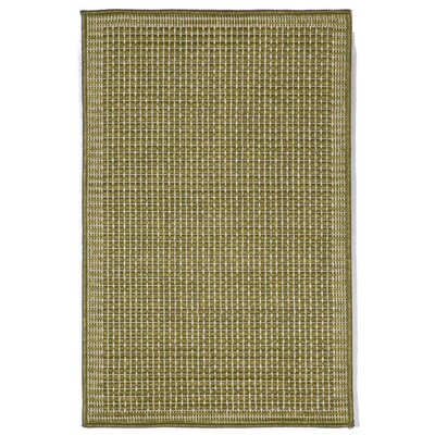 Cecile Green/Ivory Texture Indoor/Outdoor Area Rug Rug Size: Rectangle 111 x 211