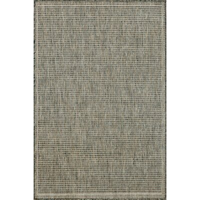 Sloane Texture Silver/Ivory Indoor/Outdoor Area Rug Rug Size: 33 x 411