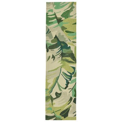 Rachael Hand-Tufted Green Indoor/Outdoor Area Rug Rug Size: Runner 2 x 8