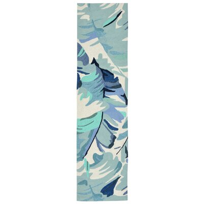 Rachael Hand-Tufted Blue Indoor/Outdoor Area Rug Rug Size: Rectangle 36 x 56