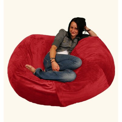 Breton Bean Bag Upholstery: Pebble - Merlot