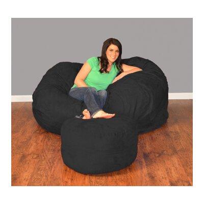 Breton Bean Bag Upholstery: Micro Suede - Black