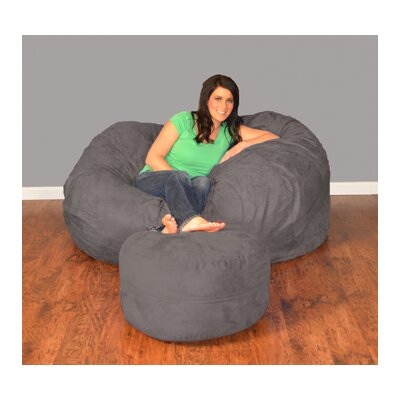 Breton Bean Bag Upholstery: Micro Suede - Charcoal