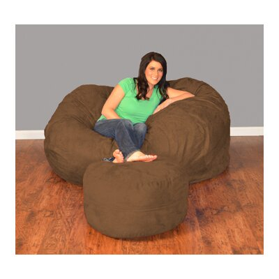 Breton Bean Bag Upholstery: Micro Suede - Chocolate