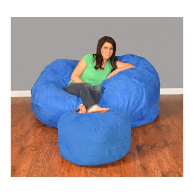Breton Bean Bag Upholstery: Micro Suede - Royal Blue