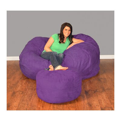 Breton Bean Bag Upholstery: Micro Suede - Purple