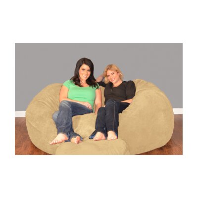 Breton Bean Bag Sofa Upholstery: Micro Suede - Camel
