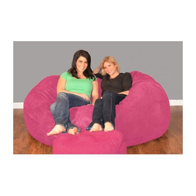 Breton Bean Bag Sofa Upholstery: Micro Suede - Lipstick