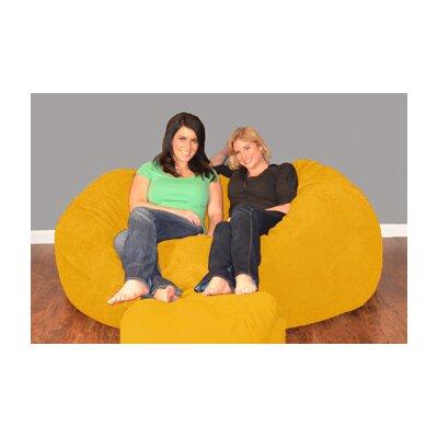 Breton Bean Bag Sofa Upholstery: Micro Suede - Lemon