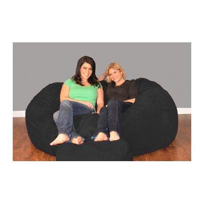 Breton Bean Bag Sofa Upholstery: Micro Suede - Black