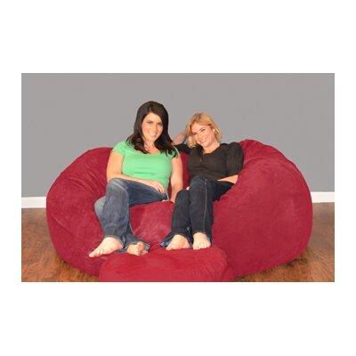 Breton Bean Bag Sofa Upholstery: Micro Suede - Cinnabar