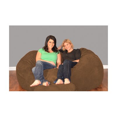 Breton Bean Bag Sofa Upholstery: Micro Suede - Chocolate