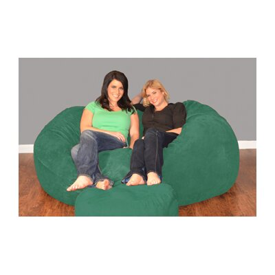 Breton Bean Bag Sofa Upholstery: Micro Suede - Tide Pool