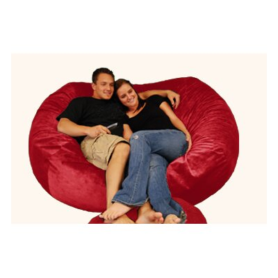 Breton Bean Bag Sofa Upholstery: Pebble - Merlot