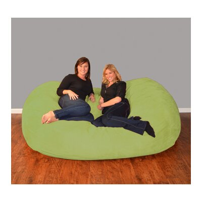 Breton  Bean Bag Sofa Upholstery: Micro Suede - Lime