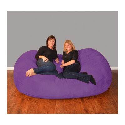 Breton  Bean Bag Sofa Upholstery: Micro Suede - Purple