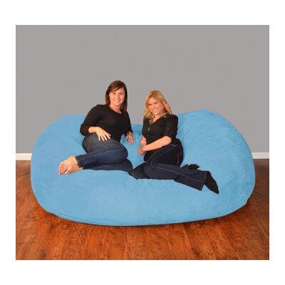 Breton  Bean Bag Sofa Upholstery: Micro Suede - Sky Blue