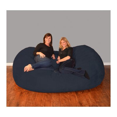 Breton  Bean Bag Sofa Upholstery: Micro Suede - Navy