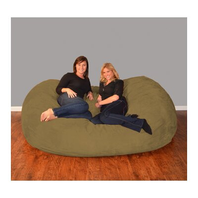 Breton  Bean Bag Sofa Upholstery: Micro Suede - Olive