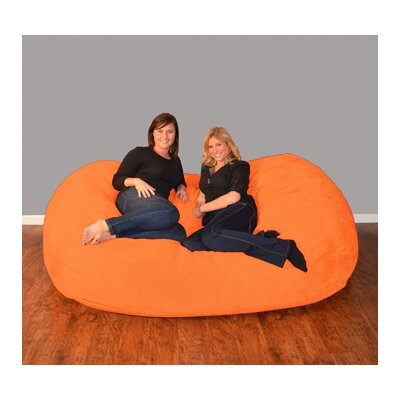 Breton  Bean Bag Sofa Upholstery: Micro Suede - Tangerine
