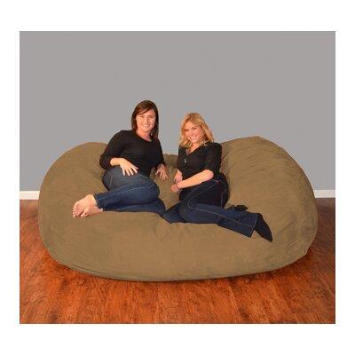 Breton  Bean Bag Sofa Upholstery: Micro Suede - Cocoa