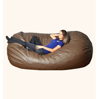 Breton  Bean Bag Sofa Upholstery: Faux Leather - Brown