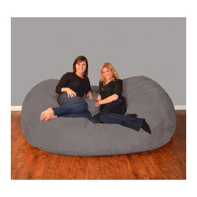 Breton  Bean Bag Sofa Upholstery: Micro Suede - Charcoal