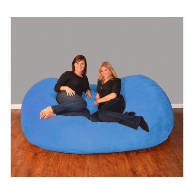 Breton  Bean Bag Sofa Upholstery: Micro Suede - Royal Blue