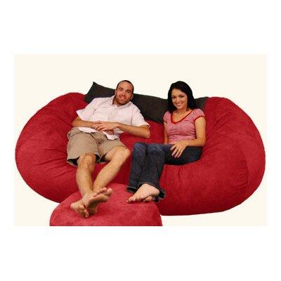Breton  Bean Bag Sofa Upholstery: Pebble - Merlot