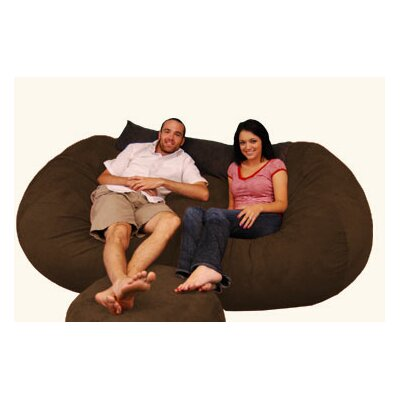 Breton  Bean Bag Sofa Upholstery: Pebble - Chocolate