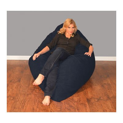 Breton Bean Bag Lounger Upholstery: Micro Suede - Navy