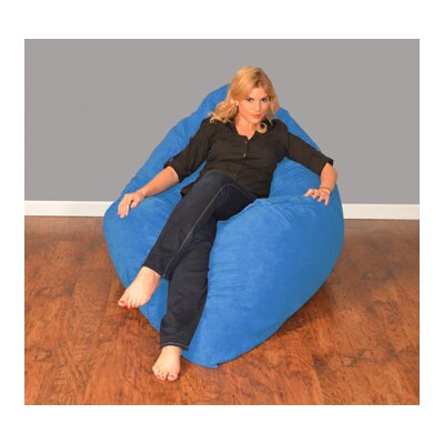 Breton Bean Bag Lounger Upholstery: Micro Suede - Royal Blue