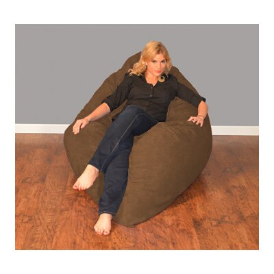 Breton Bean Bag Lounger Upholstery: Micro Suede - Chocolate