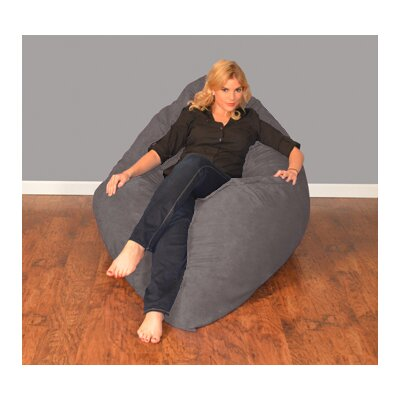 Breton Bean Bag Lounger Upholstery: Micro Suede - Charcoal