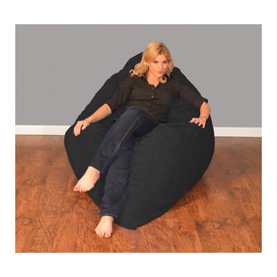 Breton Bean Bag Lounger Upholstery: Micro Suede - Black