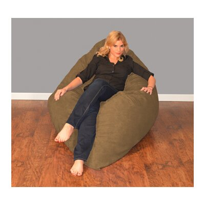 Breton Bean Bag Lounger Upholstery: Micro Suede - Cocoa