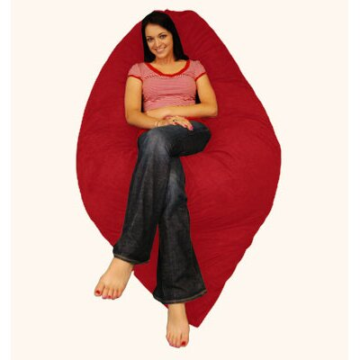 Breton Bean Bag Lounger Upholstery: Pebble - Merlot