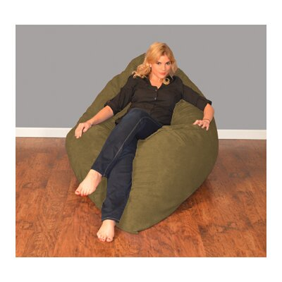 Breton Bean Bag Lounger Upholstery: Micro Suede - Olive